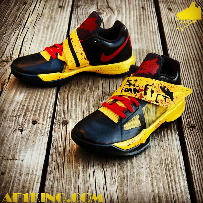 best sneakers beaa0 3c7c7 ... Paranorman Custom, GourmetKickz brings us the Nike LeBron 9 Nike Zoom  KD IV ...