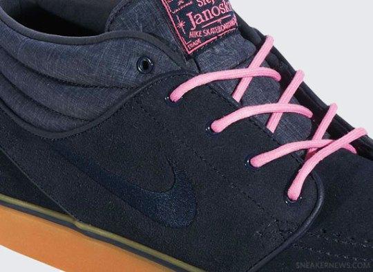 Nike Zoom Stefan Janoski Mid – Dark Obsidian – Digital Pink