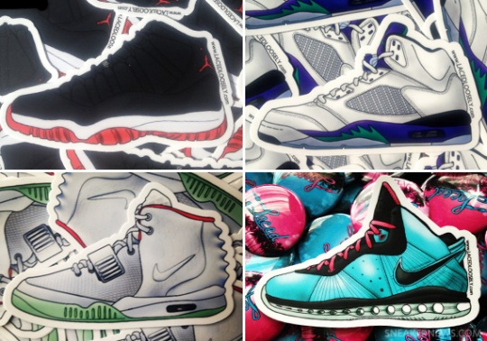 Sneaker-Inspired Stickers by Laced Loosely