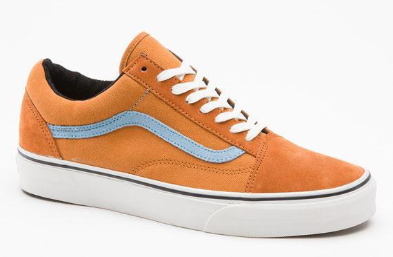 vans old skool blue and orange