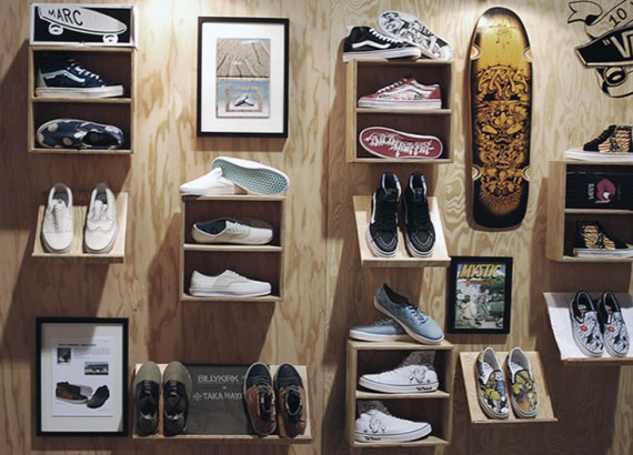 Vans vault 10th anniversary retrospective display for Sneaker wall display