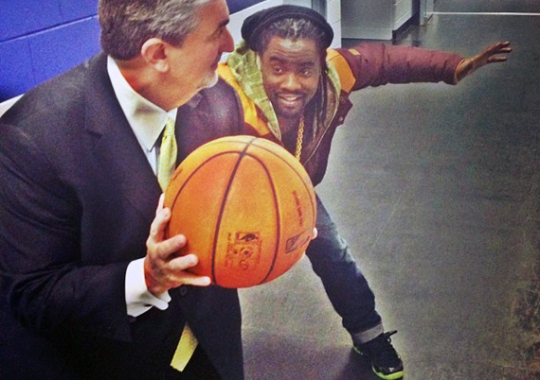 "Wale in Nike Air Foamposite One ""ParaNorman"""