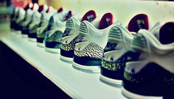 Nike Air Jordan Iii Retro 88 Cemento Blanco z8le3e