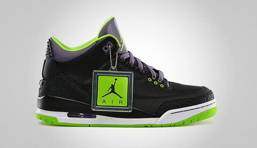 new arrival 3eaa8 49158 Air Jordan III Black Electric Green-Canyon Purple-White 136064-018 02 16 13