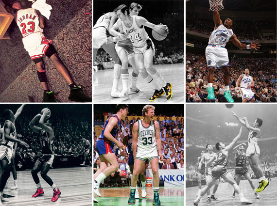 25 Classic NBA Players and the Sneakers They Should Have Worn