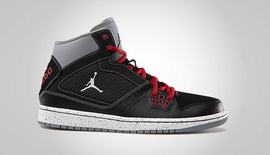new style 2015d d1335 Jordan 1 Flight Black White-Stealth-Splatter Red 372704-044