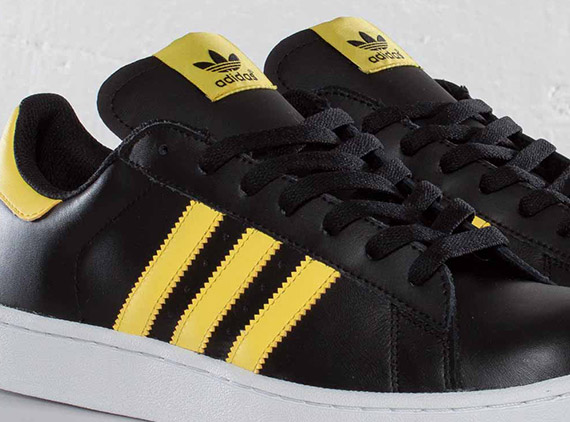 adidas originals campus ii black vivid yellow
