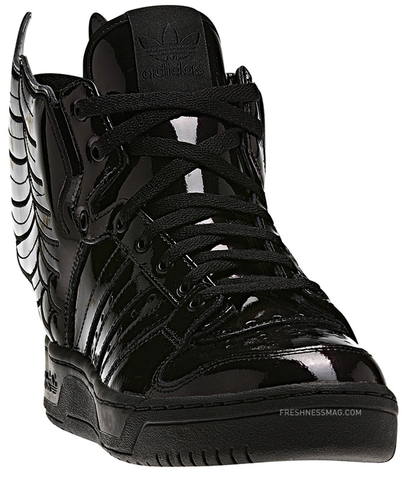 Adidas Originals Alas Jeremy Scott X 2,0 Zapatos De Cuero Negro