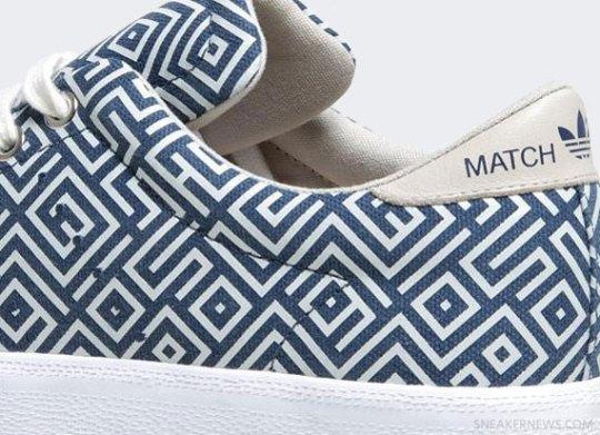 adidas Originals Match Play – Slub Blue – Running White
