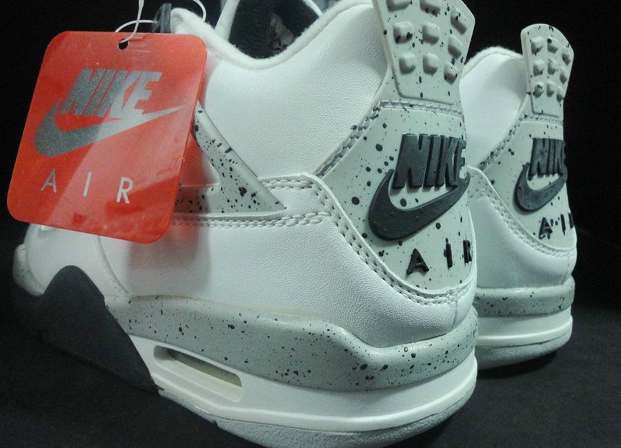 buy online a6c14 f59c8 Air Jordan IV White Black-Cement Grey