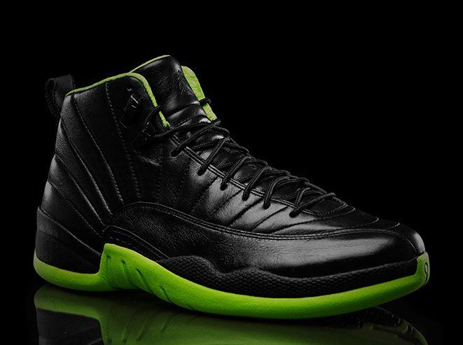 Black And Neon Green Jordans Shoes