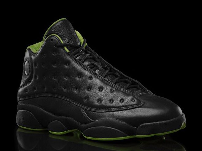 Lime Green And Black Jordan Shoes