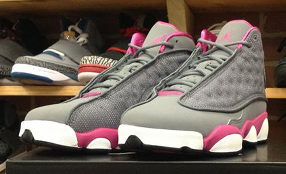 more photos 9032d e284f Air Jordan XIII GS - Cool Grey - Fusion Pink - White - SneakerNews.com