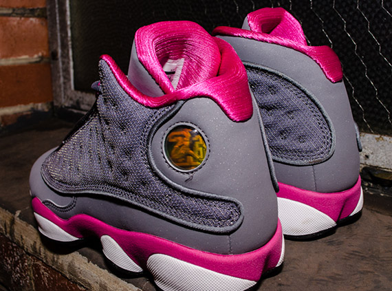 air jordan xiii gs cool grey � fusion pink sneakernewscom