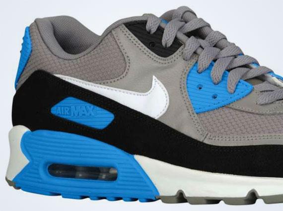 air max 90 grey and blue