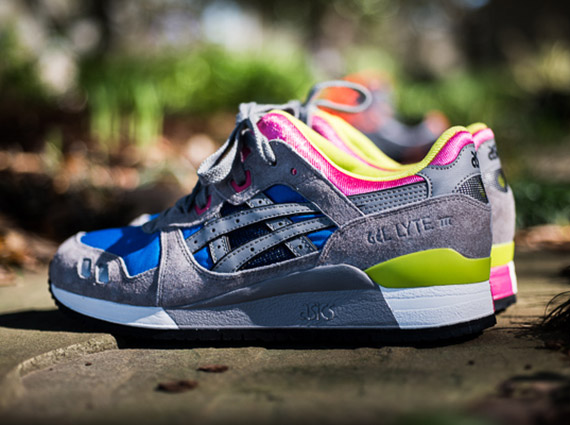 6492083d1f37 Asics Gel Lyte III - Grey - Blue - Pink - SneakerNews.com