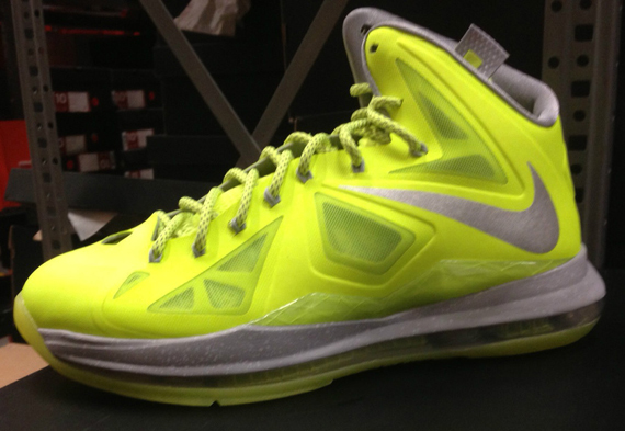 huge discount 25732 a3eac Nike LeBron X quotVolt Dunkmanquot Release Reminder well-wreapped