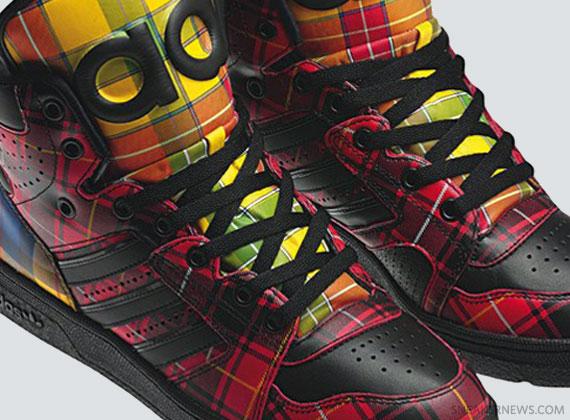 """watch fe26b 5d3fa Jeremy Scott x adidas Originals JS Instinct Hi """"Tartan"""""""