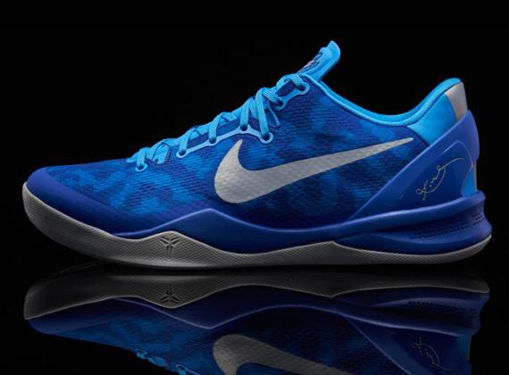 "Nike Kobe 8 ""Duke/Blue Glow"" - Release Reminder ...Kobe 8 Colorways"