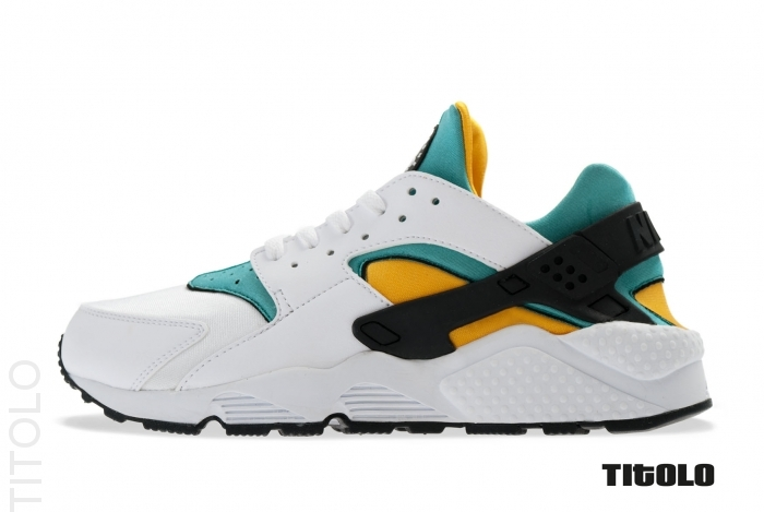 nike huarache white and gold