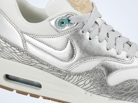 Nike Air Max 1 Metallic Silver Blue White