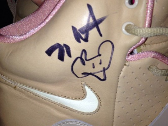 """Nike Air Yeezy """"Net"""" – Autographed by Kanye West"""