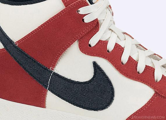 Nike Dunk High AC Sail University Red Black
