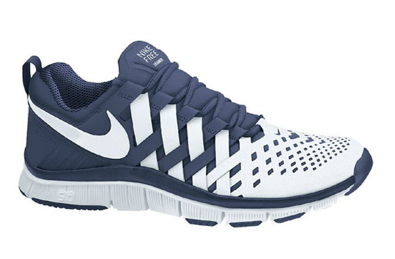 nike free trainers 5.0 navy\/white