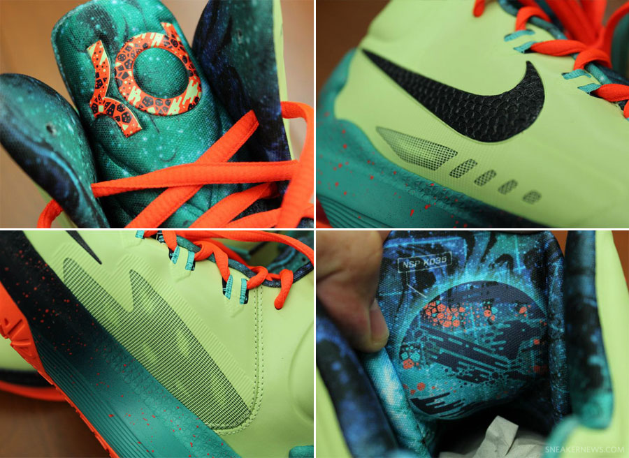 "premium selection 0ee18 43684 Nike KD V ""All-Star"" – Liquid Lime – Total Crimson – Sport Turquoise"