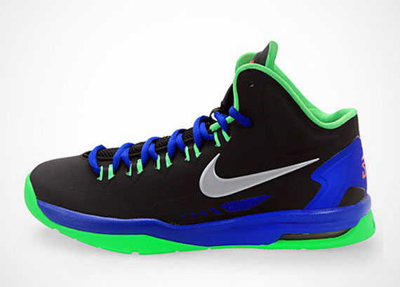 Nike KD V GS - Black - Metallic Silver - Poison Green ...