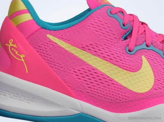 Kobe 8 Pink And Blue Nike Kobe 8 GS - Dynamic Pink
