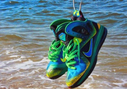 "Nike LeBron 9 Elite ""Mahi Mahi"" Customs by Twizz"
