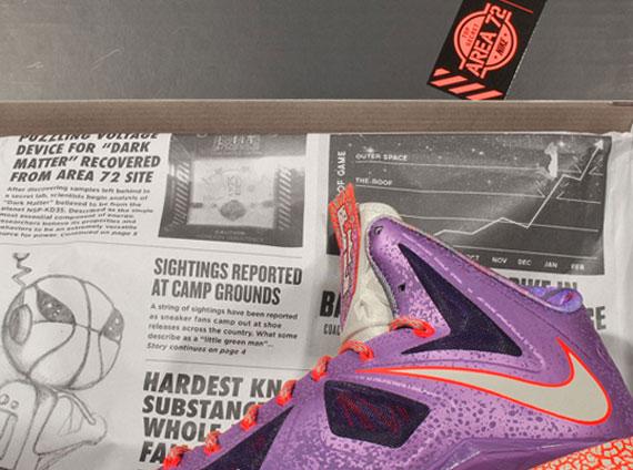 Nike LeBron X quot All Starquot Laser Purple Strata Grey Total Crimson