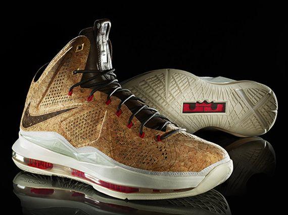 """sports shoes 7aa57 d1f45 Nike LeBron X """"Cork"""" – Foot Locker Release Info"""
