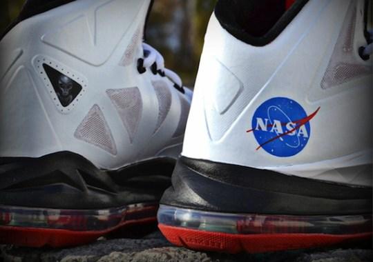 "Nike LeBron X ""Houston We Have Liftoff"" Customs by Freaker Sneaks"