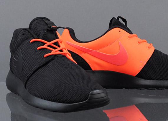 "van cleef - Nike Roshe Run ""Split"" - Black - Total Crimson - SneakerNews.com"