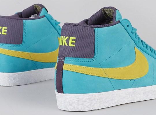 Nike SB Blazer Premium – Aquamarine – Electric Yellow