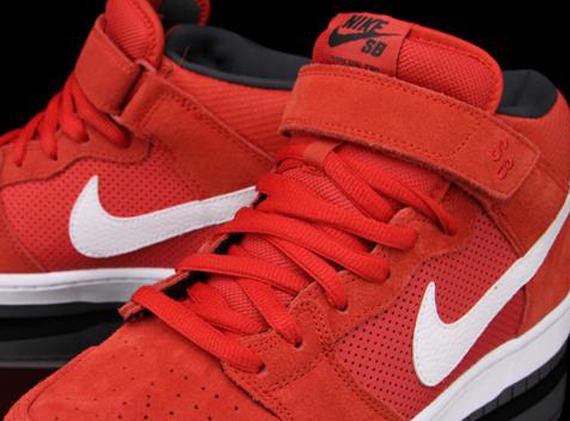 Nike Sb Dunk Mid Pro Hyper Røde Sko OaKl0