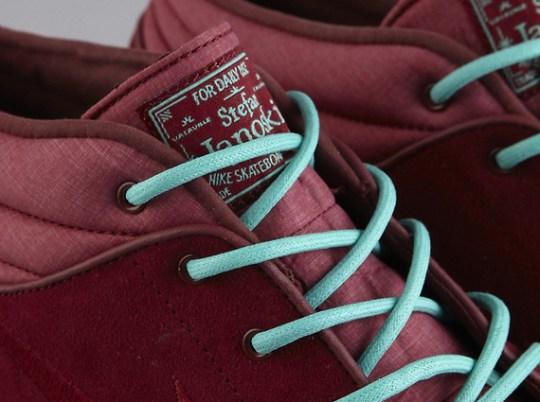 Nike SB Stefan Janoski Mid – Team Red – Crystal Mint