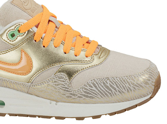 promo code df22e 9fbcc Nike WMNS Air Max 1 PRM BirchBright Citrus-Metallic Gold-Sail 454746-202.  via Inflammable