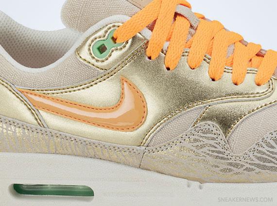 nike air max 1 beige gold orange