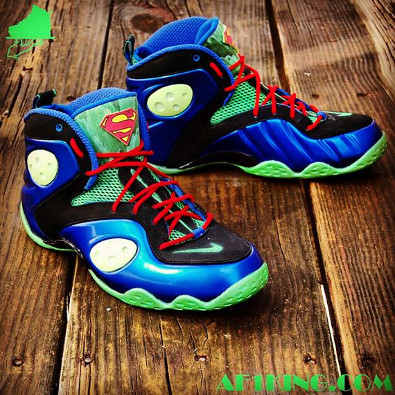 """Nike Zoom Rookie """"Superman/Man Of Steel"""" Customs By"""