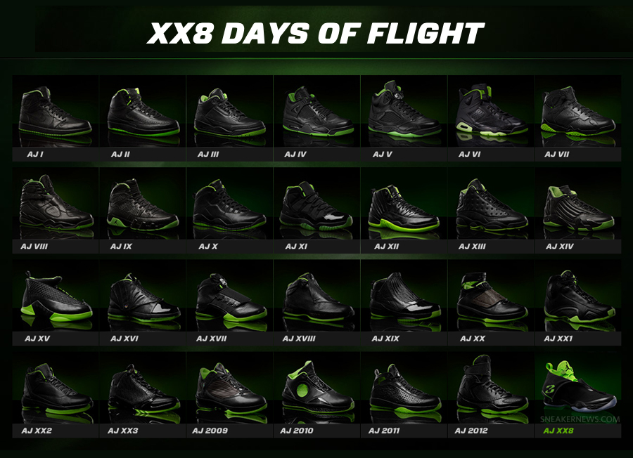 air jordan 28 days of flight