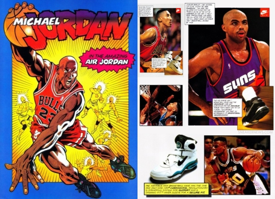 Vintage 1993 Nike Basketball Comic Book Ads