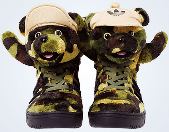 No amount of camouflage print could ever mask the Jeremy Scott Bears in a  public setting, but that immediate response of shock and awe is precisely  what the ...