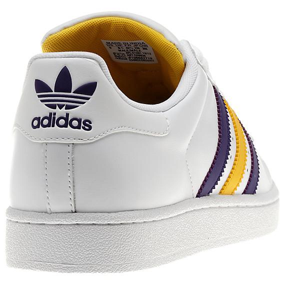 adidas Originals Superstar II White Purple Yellow lovely ... 59935de5f