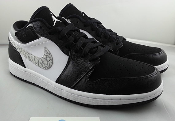 Air Jordan 1 Strap Low Black Matte Silver White