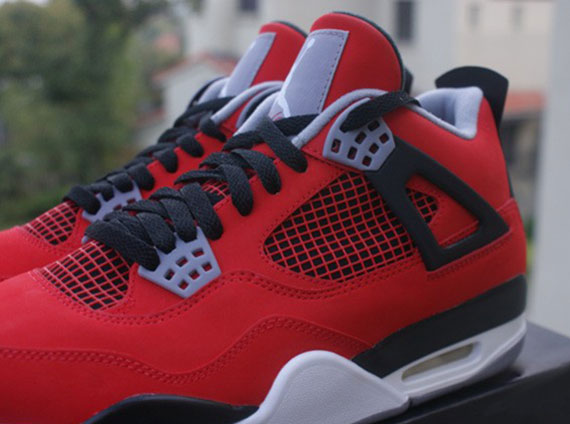 air jordan retro 4 red nubuck shoes