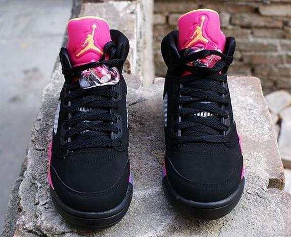 Air Jordan 5 Black Pink Orange