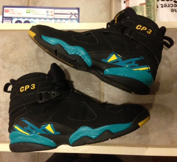 official photos d85e2 af40f hot sale Air Jordan VIII Chris Paul Hornets PE